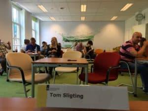 Tom Sligting met zijn workshop comedy voor Rijksoverheid.